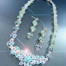 Turquoise Blue Crystals Necklace Set 1N11503