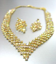 Gold Clear AB Rhinestone Crystals Set 1N4001346