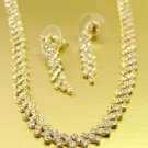 Gold Rhinestone Crystals Necklace Set 1N4001945