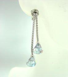 Sterling Silver Lavender CZ Earrings 1E009211