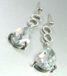 Clear Crystals Sterling Silver Earrings 1E4007079