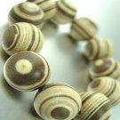 Natural Marble Wood Beads Bracelet 1B1034037B