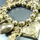 Antique Gold Hearts Angels Bracelet 1B1130535