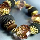 Brown Lucite Beads Stretch Bracelet 1B0386306