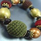 Multi Knit Beads Stretch Bracelet 1B0386378