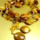Brown Stones Crystals Stretch Bracelet 1B067140