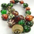 Natural Wood colorful Black Beads Bracelet  1B1333897