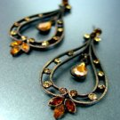 Antique Brown Crystals Earrings 1E0805667