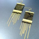 Gold Faux Snake Dangle Earrings 1E2916060