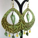 Green Antique Oxidized Dangle Earrings 1E2916070