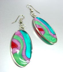 Colorful Resin Dangle Earrings 1E400392B