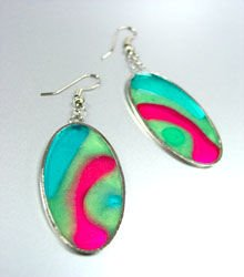 Colorful Resin Dangle Earrings 1E400392D