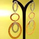 Copper Textured Ovals Dangle Earrings 1E1255038