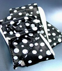 Black White Polka Dots Buckle Wrap Belt 1BTB0012433