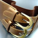 Brown Double Buckle Elastic Wrap Belt 1BTB1340626