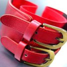 Red Double Buckle Elastic Wrap Belt 1BTB1340626