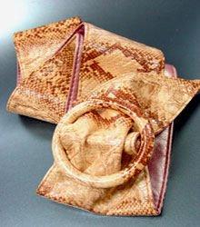Orange Snake Skin Buckle Wrap Belt  1BTB13406265