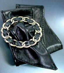 Black Antique Buckle Wrap Belt  1BTB0012432