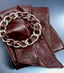 Brown Antique Buckle Wrap Belt  1BTB0012432