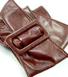 Brown Buckle Wrap Belt  1BTB1038008