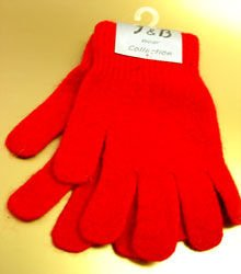 Red Acrylic &  Angora Fur Glove  1GLOVE466
