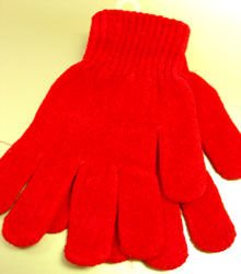 Red Chenille Fashion Glove 1GLOVE466C