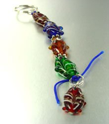 Multi Glass Beads Fish Key Chain