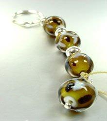 Brown Glass Beads Key Chain  1KC132193