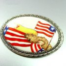 Colorful Porcelian Angel Brooch Pin USA 1BP1776