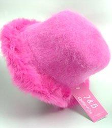 Pink Angora with Rabbit  Fur Trim Fashion Hat 10H400205