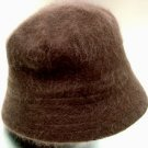 Brown Angora Rabbit Fur Bucket Hat  1HTB365