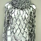 White Black Crochett Poncho & Tam Hat Set