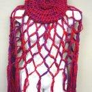 Red Purple Crochett Poncho & Tam Hat Set