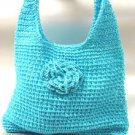 Blue Metallic Weave HoBo Satchel Bag   Handbag