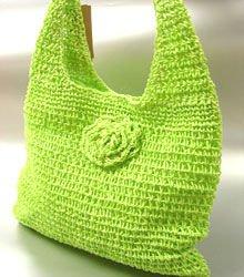 Green Metallic Weave HoBo Satchel Bag  Handbag