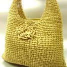 Natural Metallic Weave HoBo Satchel Bag   Handbag
