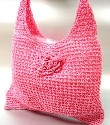 Pink Metallic Weave HoBo Satchel Bag  Handbag