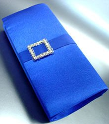 Blue Satin Square Crystals Fashion Bag  Handbag  131292