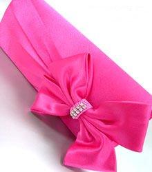 Pink Satin Crystals Evening Bag Handbag