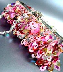 Pink Multi Confetti Sequins Cha Cha Bag  Handbag 14008698