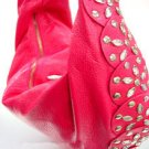 Hot Pink Rivets Shoulder Bag Handbag  14009298