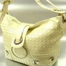 Creme Weave Satchel Ring Duffle Shoulder Bag Hsndbag