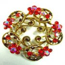 Red Swarovski Crystals Victorian Brooch    1BP49955