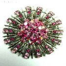 Pink Swarovski Crystals Brooch Pin    1BP49971