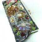 Grey Crystal Beads &  Sequins Handbag Bohemian Clutch BAG007