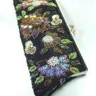 Black Crystal Beads & Sequins Handbag  Clutch BoHO 1BAG007