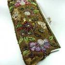 Brown Crystal Beads & Sequins Handbag  Clutch 1BAG007