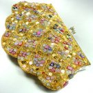 Gold Sequins & Multi Buttons Shell Handbag  Clutch 1BAG0503