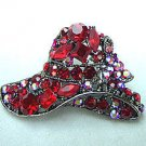 Red Hat Antique Red Crystals Pin