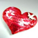 Red Heart Scripture Brooch Pin  JUDE 1:2 1BP017020